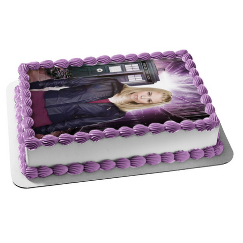 Doctor Who Rose Tyler Billie Piper Tardis Bbc TV Show Edible Cake Topper Image ABPID52989