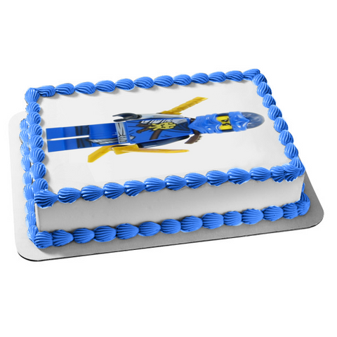 LEGO Ninjago Blue Jay Golden Sword Edible Cake Topper Image ABPID01191