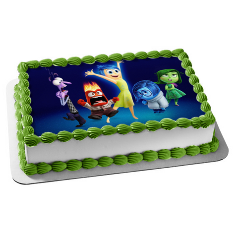 Disney Inside Out Joy Anger Sadness Edible Cake Topper Image ABPID01261