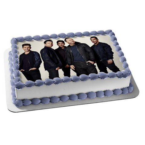 New Kids on the Block Music Band Donny Jordan Jonathan Joey Danny Edible Cake Topper Image ABPID53025
