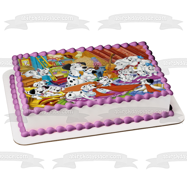 Disney 101 Dalmatians Perdita Pongo Rolly Lucky Spotty Freckles Duchess Penny Princess Edible Cake Topper Image ABPID01420