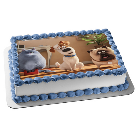 The Secret Life of Pets Max Chloe Mel Edible Cake Topper Image ABPID53198