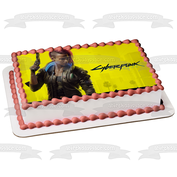 Cyberpunk 2077 Judy Alvarez Poster Sci-Fi Video Game Edible Cake Topper Image ABPID53224