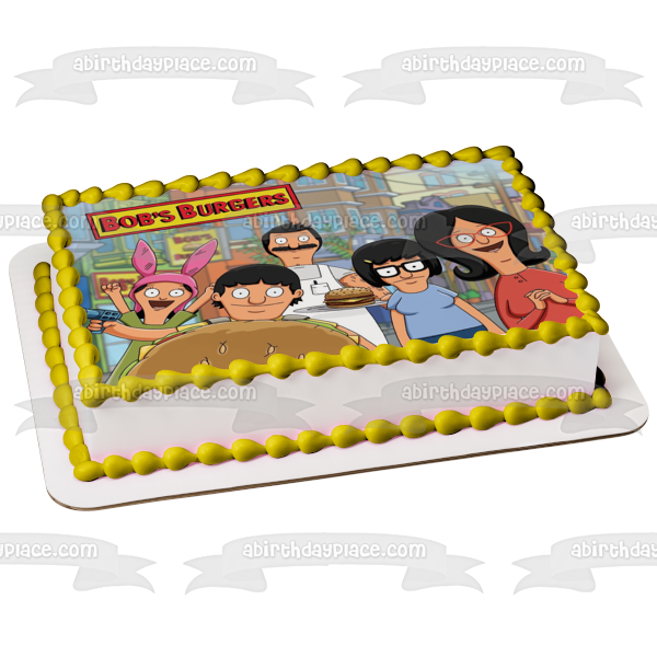 Bobs Burgers Tina Louise Gene Belcher 2 Edible Cake Topper Image ABPID01579
