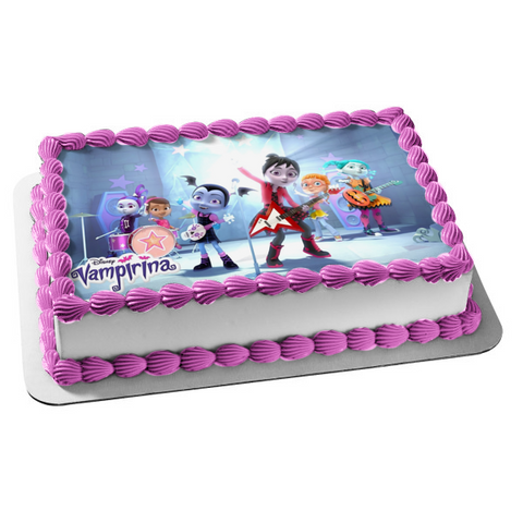Vampirina Friends Disney Ghoul Girls Rock Band Disney Edible Cake Topper Image ABPID01583