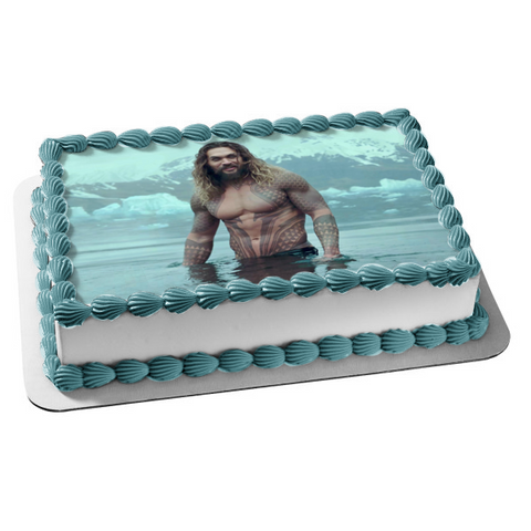 DC Comics Aquaman Atlantis Trident of Atlan Edible Cake Topper Image ABPID01669