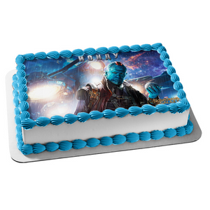 Marvel Guardians of the Galaxy Yondu Spaceship Background Edible Cake Topper Image ABPID01720