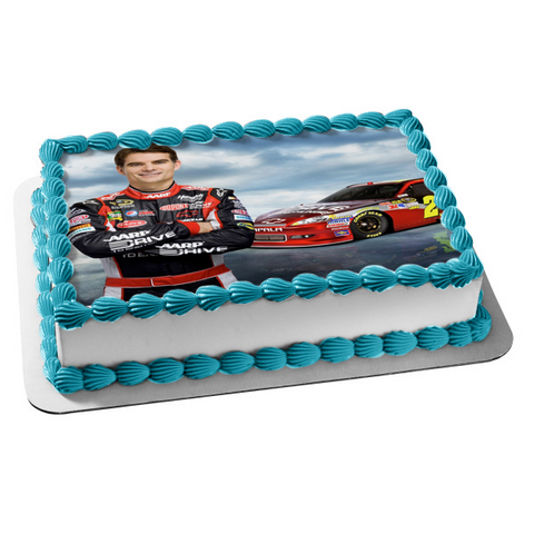 Nascar Jeff Gordon Race Car Clouds Background Edible Cake Topper Image ABPID01738