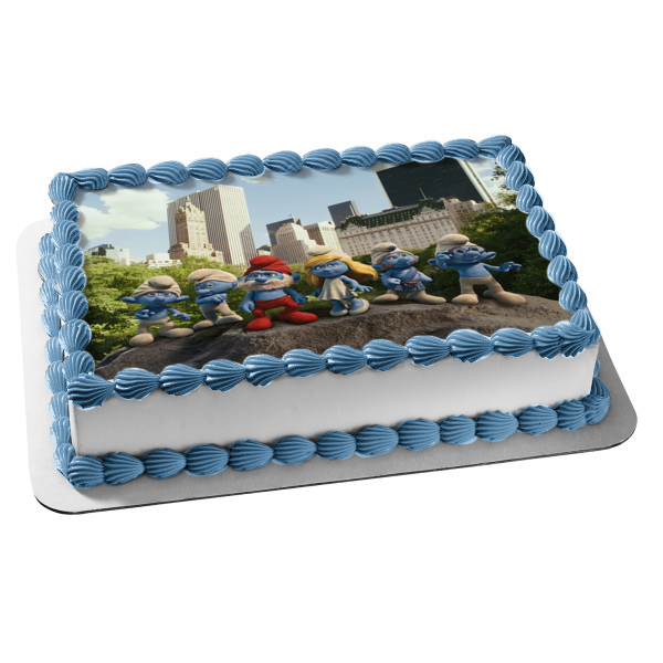 Smurf Birthday Cake Topper Decoration with Personalization