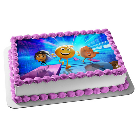 Emoji Movie Gene Jailbreak Hi-5 Edible Cake Topper Image ABPID01868
