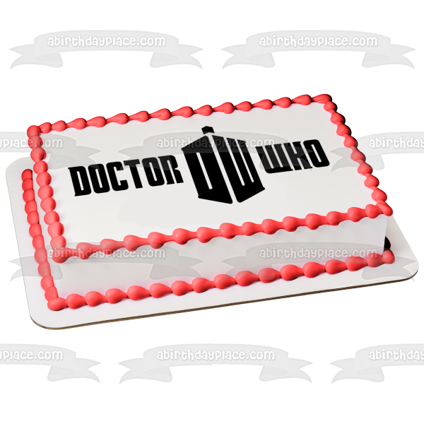 Doctor Who Logo Tardis the Doctor Edible Cake Topper Image ABPID01870