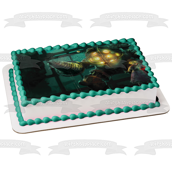 Bioshock Mr. Bubbles Little Sister Edible Cake Topper Image ABPID01879