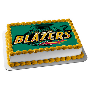 Uab Blazers Logo Dragon Breathing Fire Edible Cake Topper Image ABPID03175