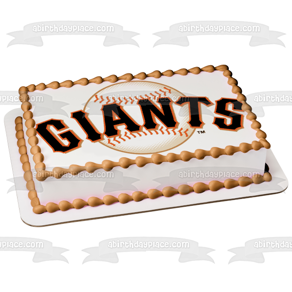 San Francisco Giants Logo 2000 to Present Edible Cake Topper Image ABPID03206