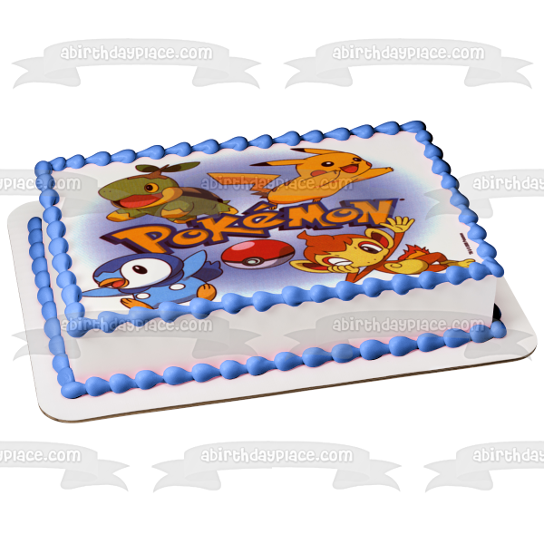 Pokemon Pikachu Squirtle Poke Ball Edible Cake Topper Image ABPID03347