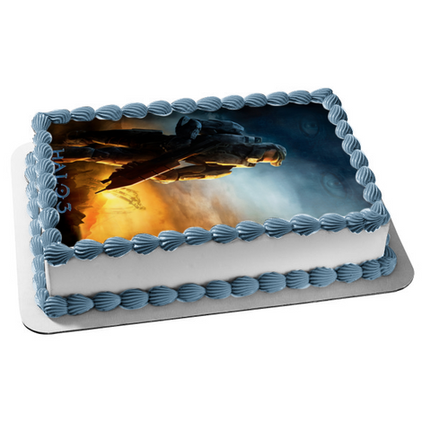 Halo 3 Master Cheif Covenant Microsoft Edible Cake Topper Image ABPID03362