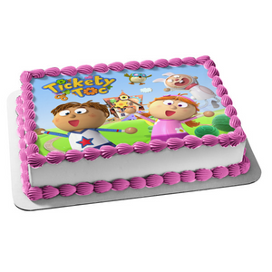 Tickety Toc Tommy Tallulah Hopparoo Tooteroo Edible Cake Topper Image ABPID03446