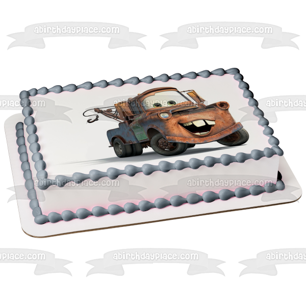 Disney Cars Mater Sir Tow Mater Edible Cake Topper Image ABPID03464