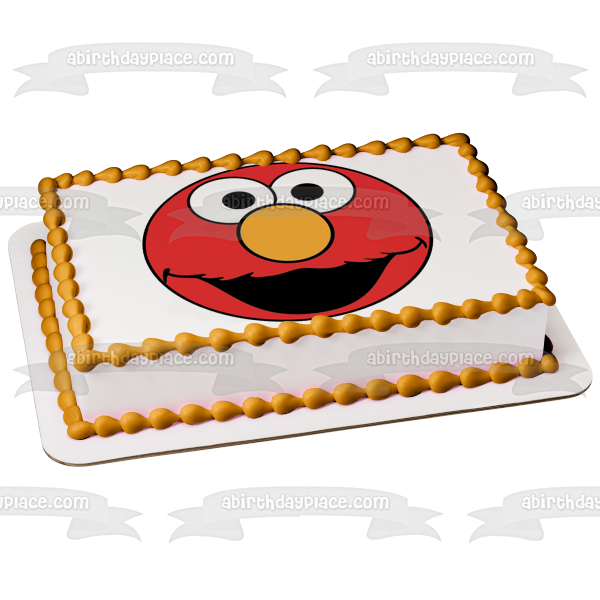 Sesame Street Elmo Muppet Elmo's World Edible Cake Topper Image ABPID03469