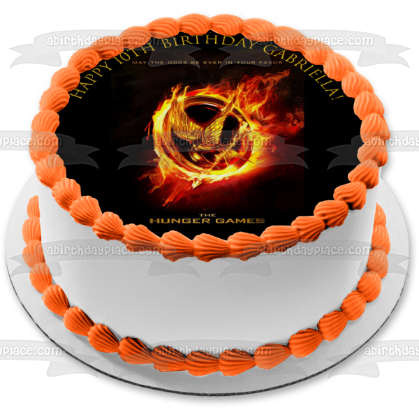 The Hunger Games Logo Fire Edible Cake Topper Image ABPID03478