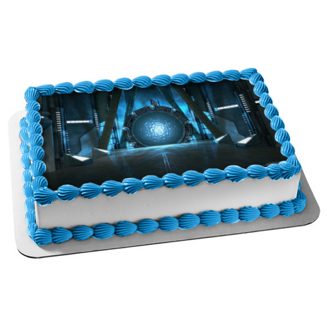 Stargate Atlantis Wormhole Edible Cake Topper Image ABPID53382