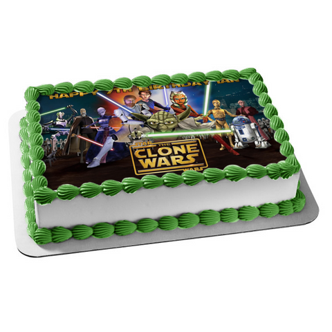 Star Wars: The Clone Wars Edible Cake Topper Image ABPID05003