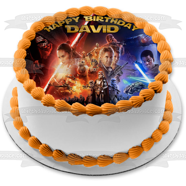 Star Wars Force Awakens 2 Han Solo Edible Cake Topper Image ABPID04767