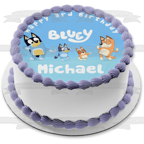 Bluey Mum Dad Chilli Edible Cake Topper Image ABPID52105