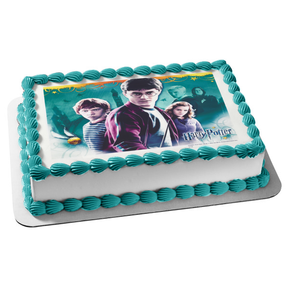 Harry Potter Hermione Granger Ron Weasley Serverus Snape Draco Malfoy Edible Cake Topper Image ABPID03670