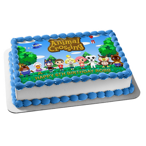 Welcome to Animal Crossing K. K. Slider Edible Cake Topper Image ABPID01079