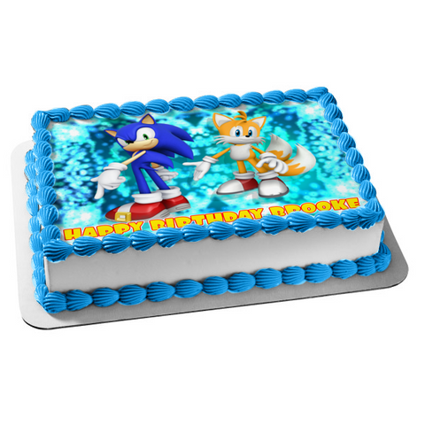 Sonic the Hedgehog Miles 'Tails' Prower Edible Cake Topper Image ABPID01258