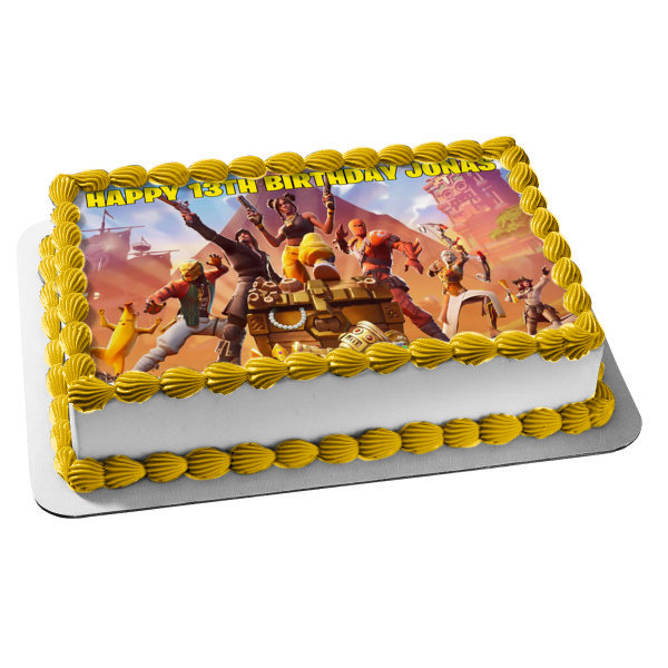 Fortnite Season 9 Luxe Assorted Skins Edible Cake Topper Image ABPID35585