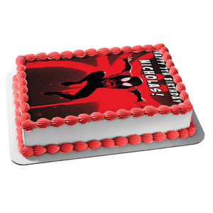 Spider-Man Spider-Verse Spider-Man Red and Black Logo Edible Cake Topper Image ABPID50448