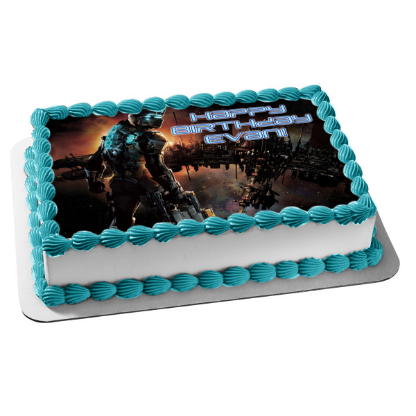 Dead Space Video Game Space Edible Cake Topper Image ABPID51674