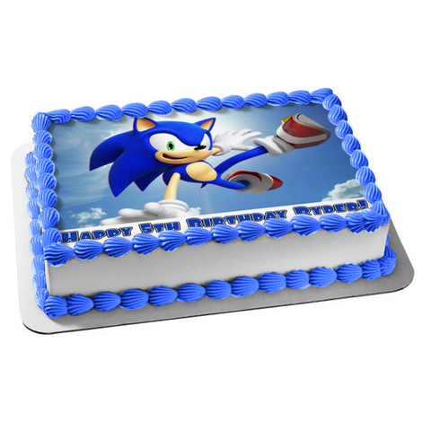Sonic the Hedgehog Edible Cake Topper Image ABPID50395