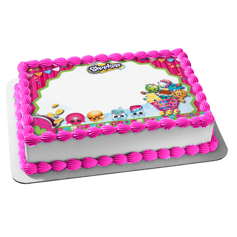 Shopkins Kooky Cookie Apple Blossom D'Lish Donut Birthday Betty Edible Cake Topper Image ABPID03862