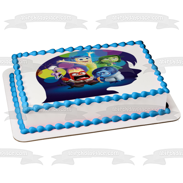Disney Inside Out Disgust Joy Anger Sadness Fear Edible Cake Topper Image ABPID03883