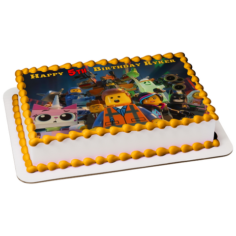 LEGO Movie 2: The Second Part Cast Edible Cake Topper Image ABPID00014