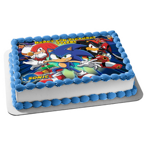 Sega Sonic X Sonic the Hedgehog Knuckles Edible Cake Topper Image ABPID04112