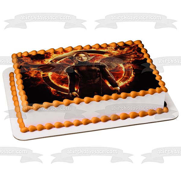 The Hunger Games Mockingay Logo Katniss Everdeen Edible Cake Topper Image ABPID05445