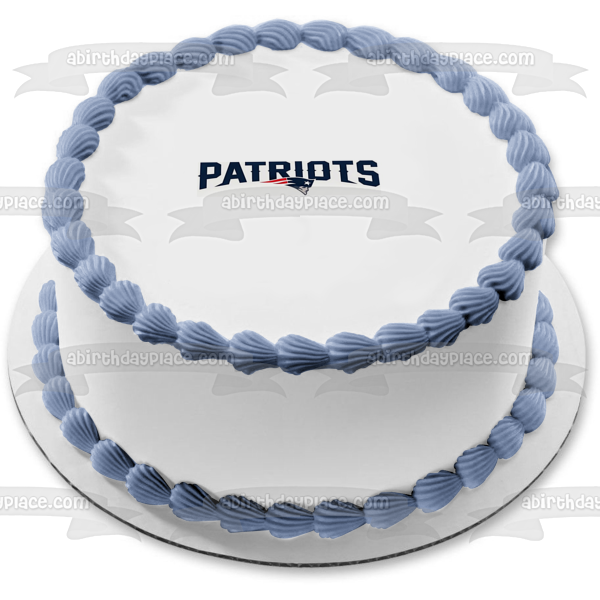 The Patriots Logo Pats NFL Edible Cake Topper Image ABPID03998