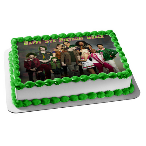 Disney Zombies 2 Seabrook High School Addison Zed Bucky Bonzo Eliza Zoey Bree Edible Cake Topper Image ABPID50939