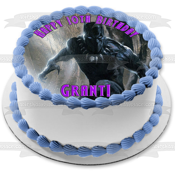 Black Panther Marvel T'Challa Edible Cake Topper Image ABPID07772