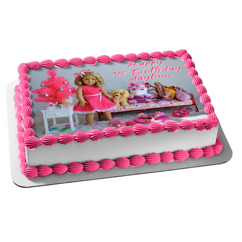 American Girl Doll Edible Cake Topper Image ABPID00461