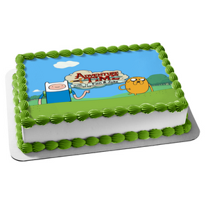 Adventure Time with Finn and Jake Edible Cake Topper Image ABPID08797