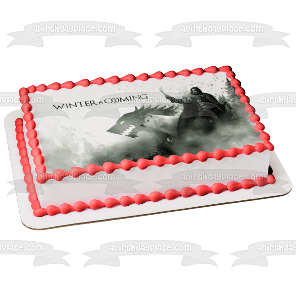 Game of Thrones Winter Is Coming Edible Cake Topper Image ABPID27818