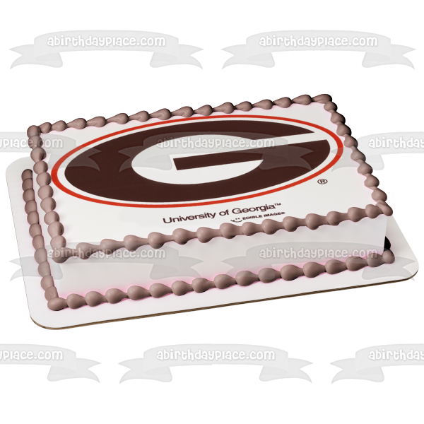 University of Georgia Bulldogs Primary Logo Edible Cake Topper Image ABPID04047