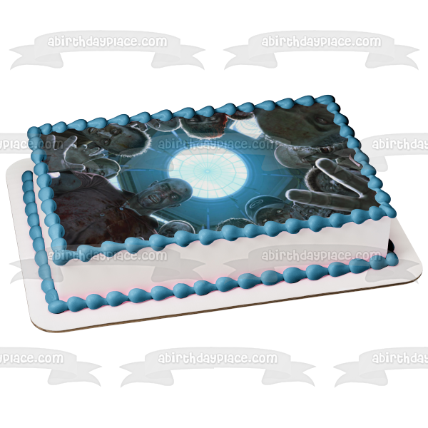 Dead Rising Circle of Zombies Attacking Edible Cake Topper Image ABPID04095
