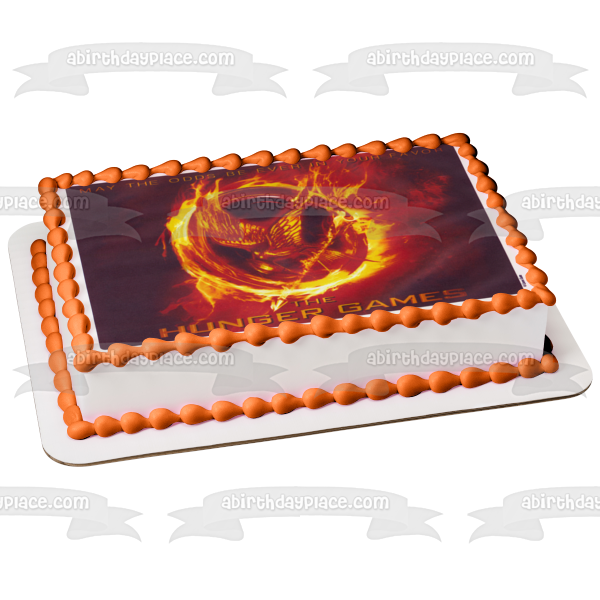 The Hunger Game May the Odds Be Ever In Your Favor Edible Cake Topper Image ABPID04228