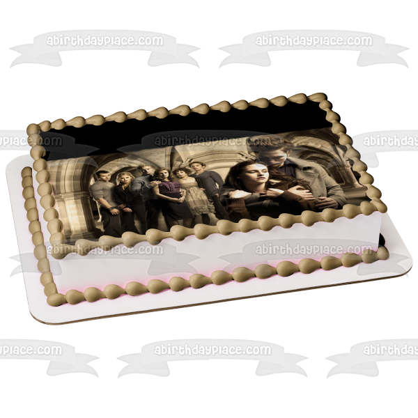 The Twilight Saga New Moon Bella Swan Edward Cullen Edible Cake Topper Image ABPID04270